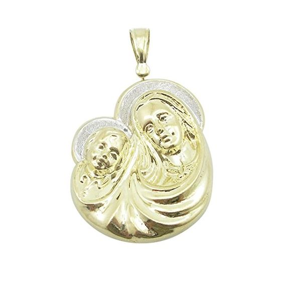Unisex 10K Solid Yellow Gold virgin mary 81129 1