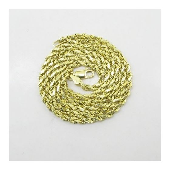 Mens 10k Yellow Gold rope chain ELNC29 2 77889 3