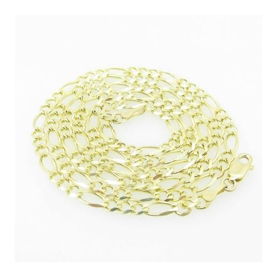 Mens Yellow-Gold Figaro Link Chain Length - 24 inc