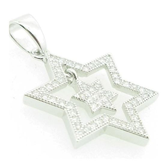 Ladies .925 Italian Sterling Silver Star Within-2