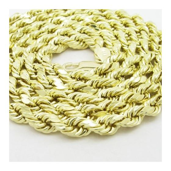 Mens 10k Yellow Gold rope chain ELNC21 2 77876 2