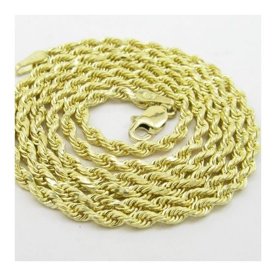 Mens 10k Yellow Gold skinny rope chain ELNC35 20""