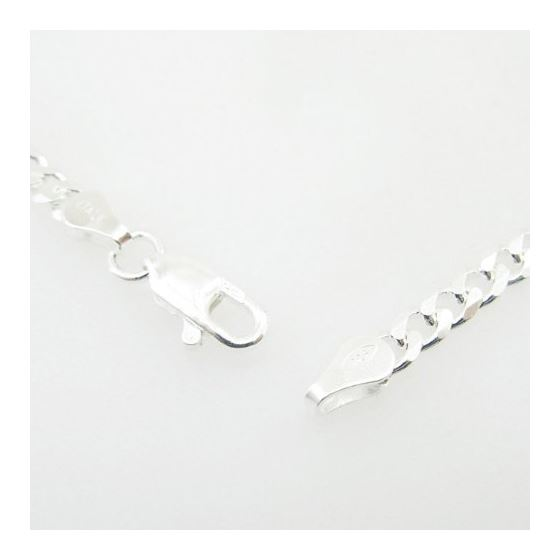 Silver Curb Link Chain Necklace Bdc67-3