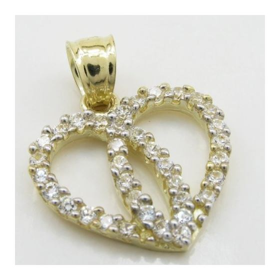 Womens 10k Yellow gold Dual heart join c 83558 2