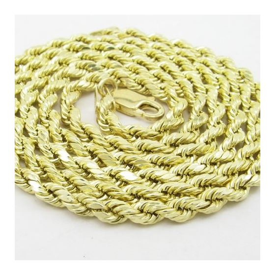 "Mens 10k Yellow Gold rope chain ELNC12 22"" long an"