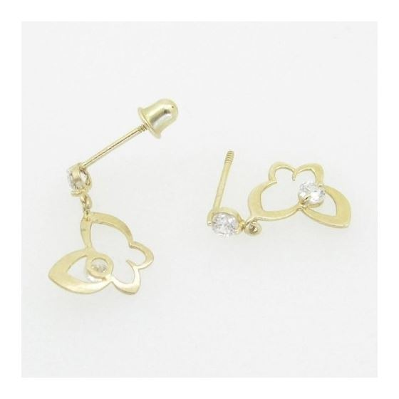 14K Gold Earrings heart star flower dolphin pengui