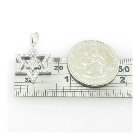 Ladies .925 Italian Sterling Silver Star Within-4