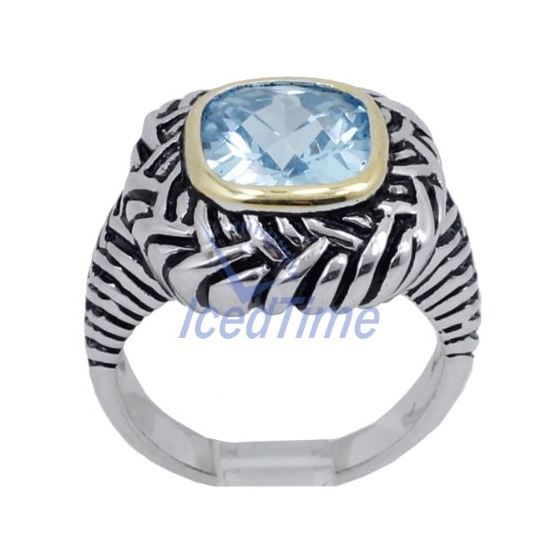 Ladies .925 Italian Sterling Silver Baby blue synt