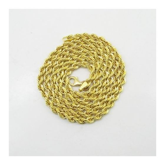 Mens 10k Yellow Gold skinny rope chain ELNC23 20""