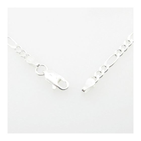 Silver Figaro link chain Necklace BDC73 79629 3