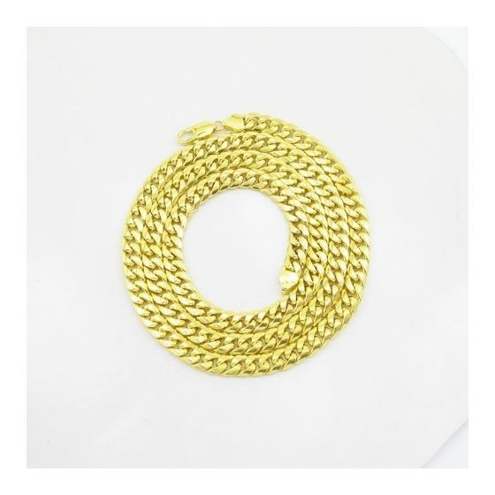 Mens 10k Yellow gold Yellow gold miami cuban hollo