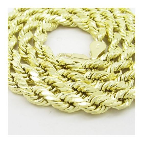 Mens 10K Yellow Gold Hollow Rope Chain Elnc20 24-2
