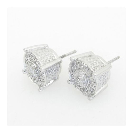Mens 925 Sterling Silver Earrings Stud Hoops Huggi