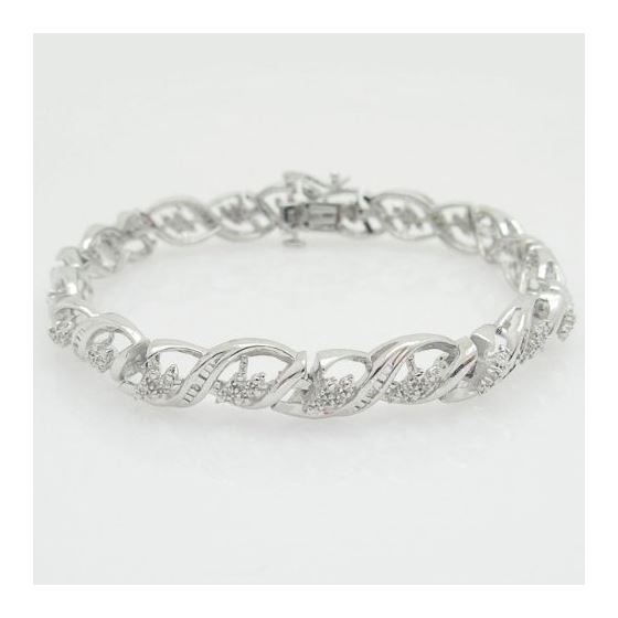 Ladies 0.25Ctw Diamond S-Link Tennis Bracelet B167