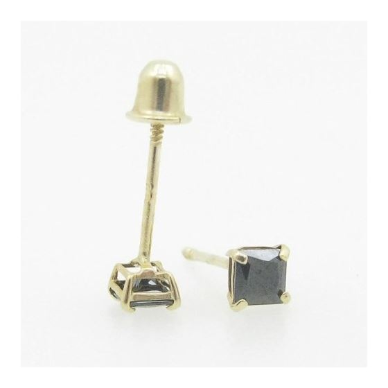 Unisex 14K solid gold earrings fancy stu 82254 3