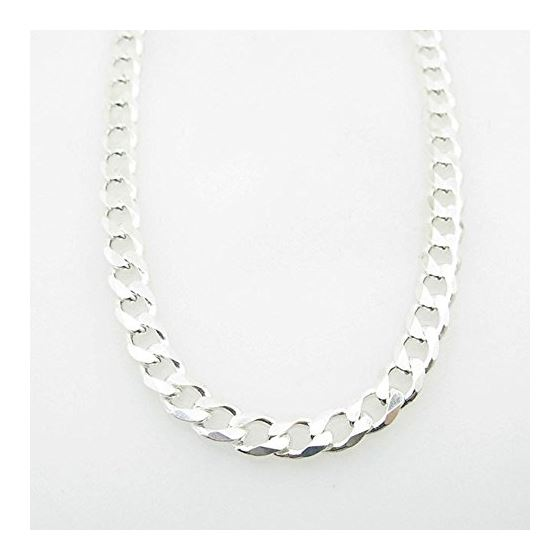 Silver Curb link chain Necklace BDC85 79559 1
