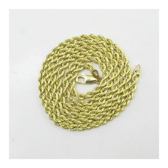Mens 10K Yellow Gold Skinny Rope Chain Elnc13 22-3