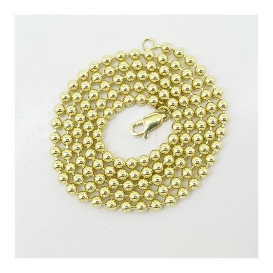Mens 10k Yellow Gold combat ball link chain ELNC60