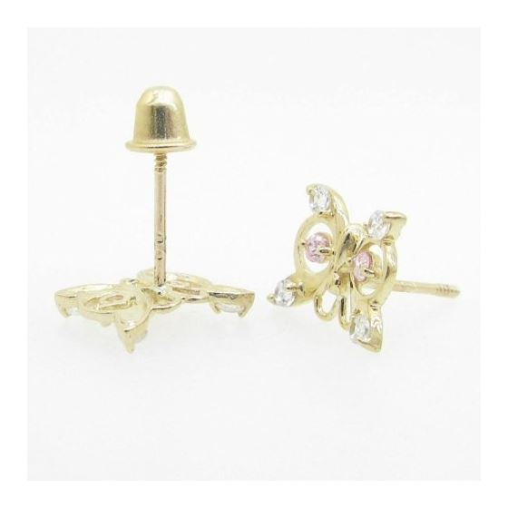 14K Gold Earrings heart star flower dolp 63944 2