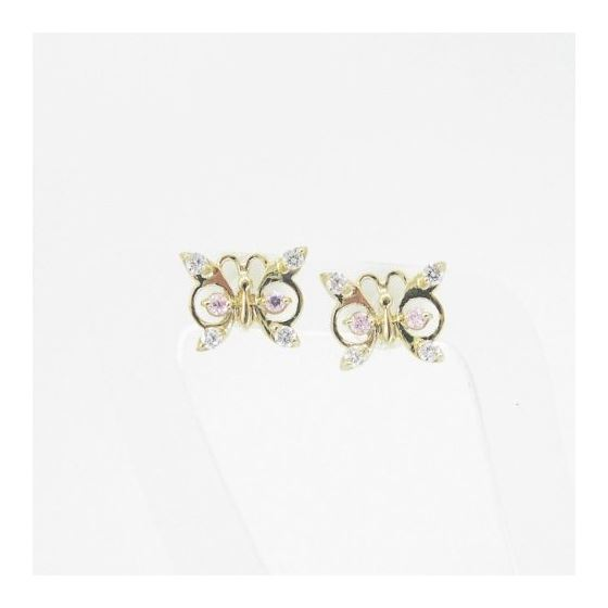14K Gold Earrings heart star flower dolp 63945 3