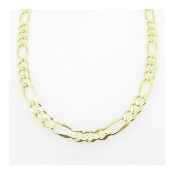 Mens Yellow-Gold Figaro Link Chain Lengt 79208 3