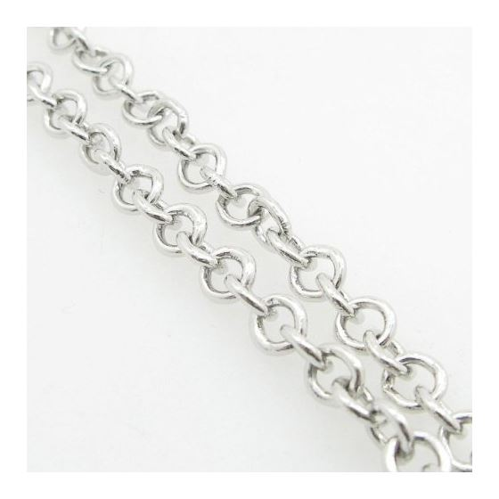 Ladies .925 Italian Sterling Silver Open Link He-4