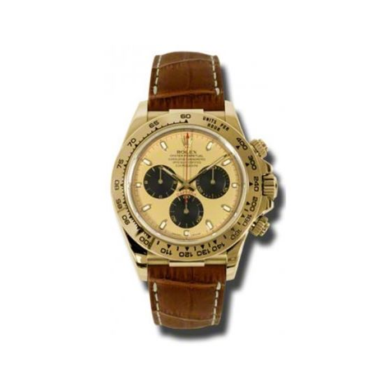 Rolex Watches  Daytona Yellow Gold  Leat 54187 1