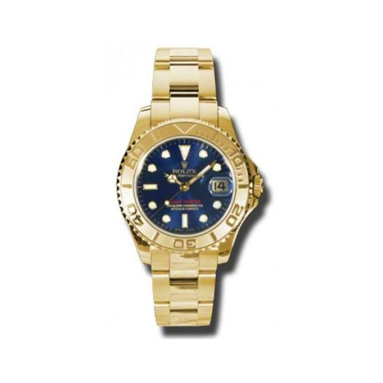 Rolex Watches  YachtMaster MidSize Gold 168628 bl