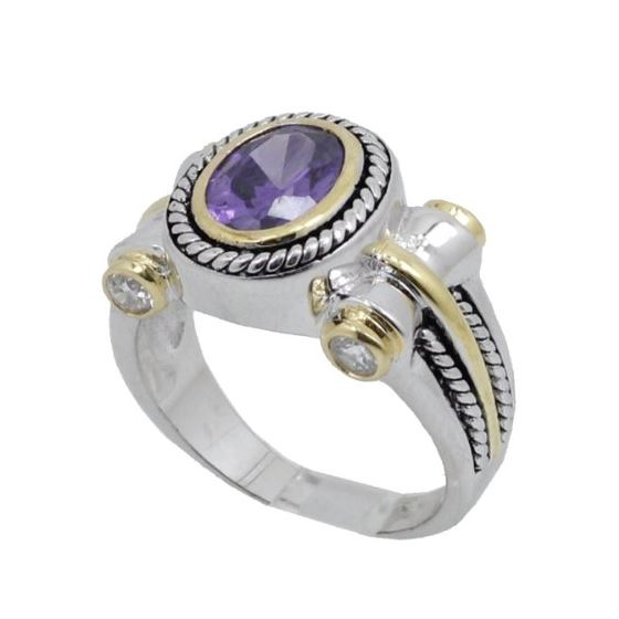 Ladies .925 Italian Sterling Silver Purp 73952 1