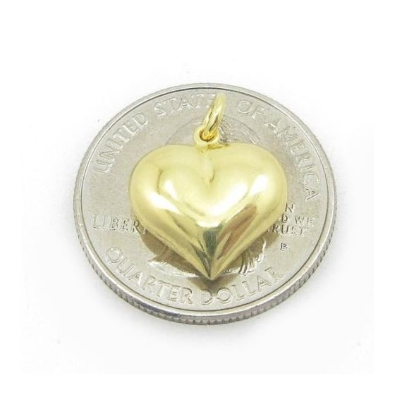 Ladies .925 Italian Sterling Silver yellow heart p
