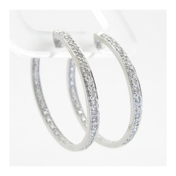 Ladies 925 Sterling Silver earrings fanc 74937 3