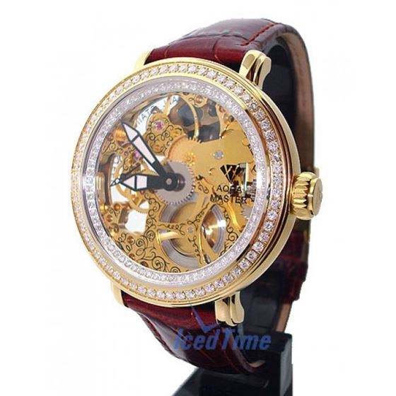 Aqua Master Mechanical Skeleton Diamond Watch W #2