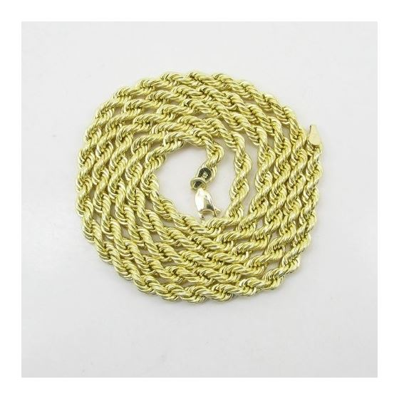 "Mens 10k Yellow Gold rope chain ELNC19 24"" long an"