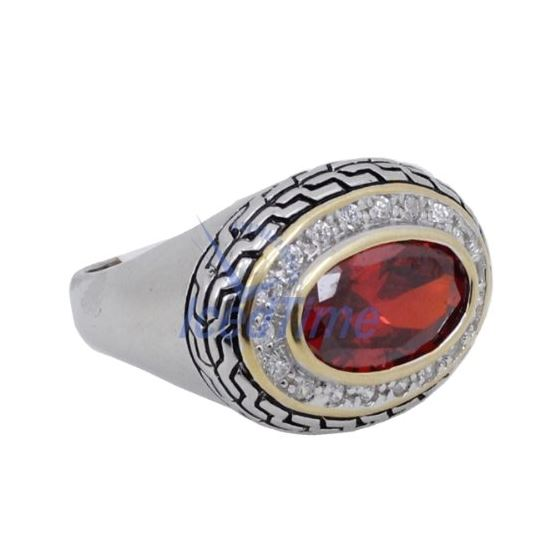 Ladies .925 Italian Sterling Silver Ruby 74178 4