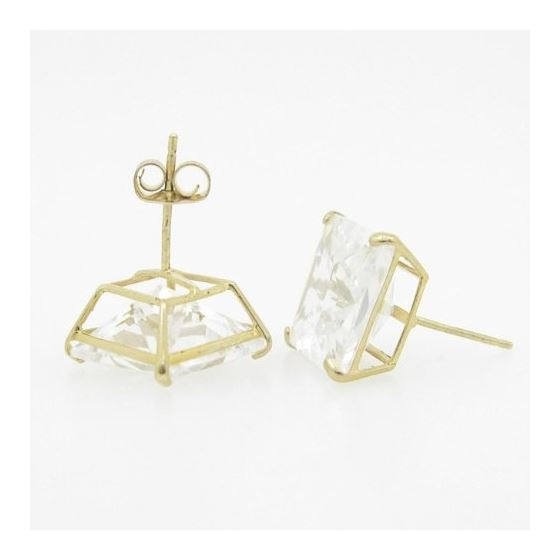 Unisex 14K Solid Gold Earrings Fancy Stud Hoop H-4