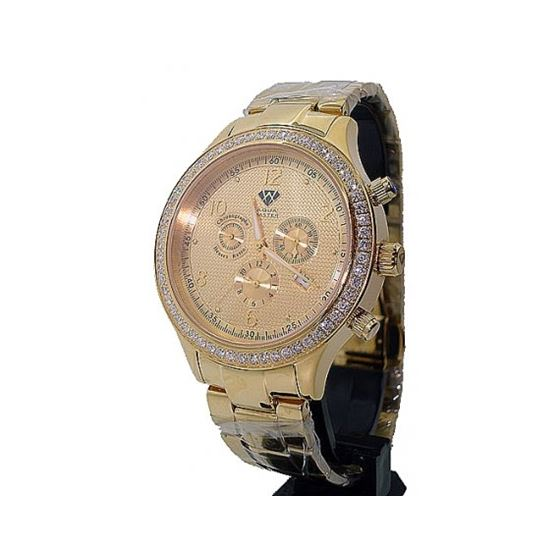 Aqua Master Chrono 2.45ctw Diamond Mens Watch AMC0