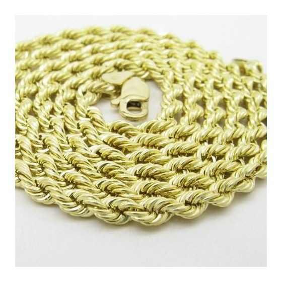Mens 10k Yellow Gold skinny rope chain E 78054 2