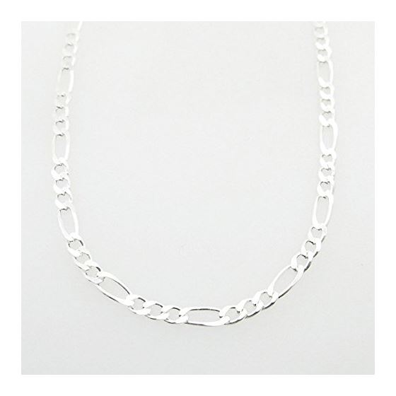 Silver Figaro link chain Necklace BDC73 79627 1