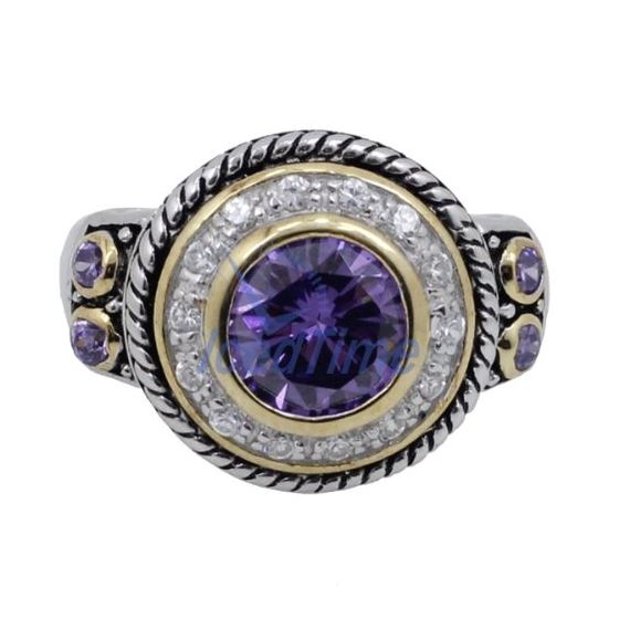Ladies .925 Italian Sterling Silver Purple Viole-3