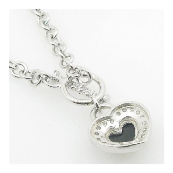 Ladies .925 Italian Sterling Silver Open Link He-3