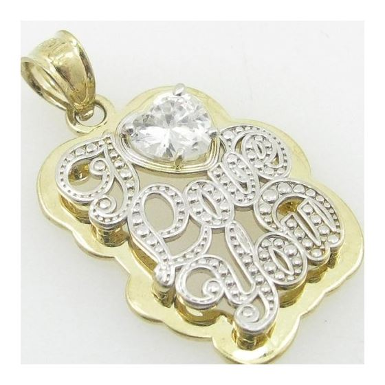 Ladies 10K Solid Yellow Gold I love you  87741 2