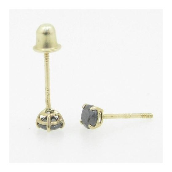 Unisex 14K solid gold earrings fancy stu 82325 4