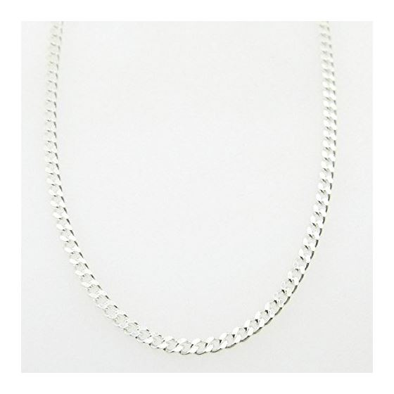 Silver Curb link chain Necklace BDC65 79522 1
