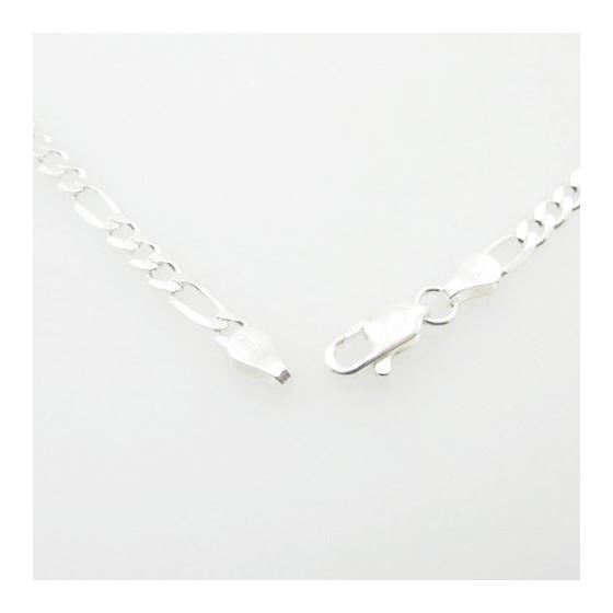 Silver Figaro link chain Necklace BDC61 79593 4