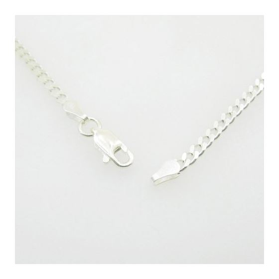 Silver Curb link chain Necklace BDC66 79530 3