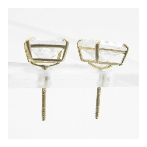 Unisex 14K solid gold earrings fancy stu 81548 2