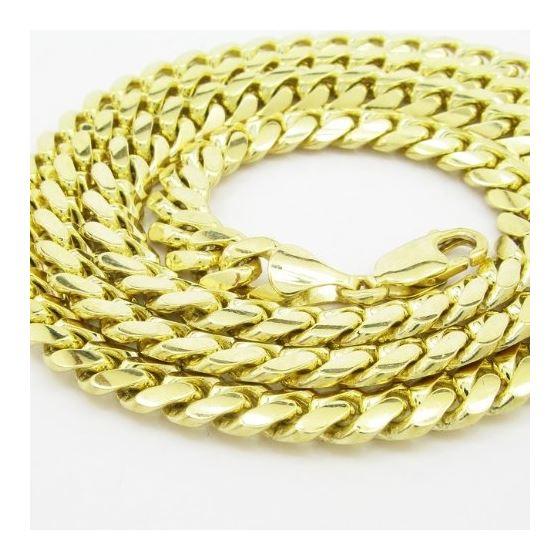 "Mens 10k Yellow Gold miami link chain 24"" 7MM LAGC"