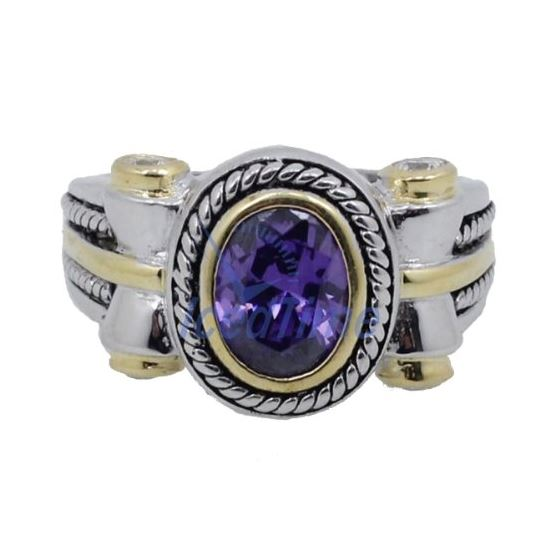 Ladies .925 Italian Sterling Silver Purp 73954 3