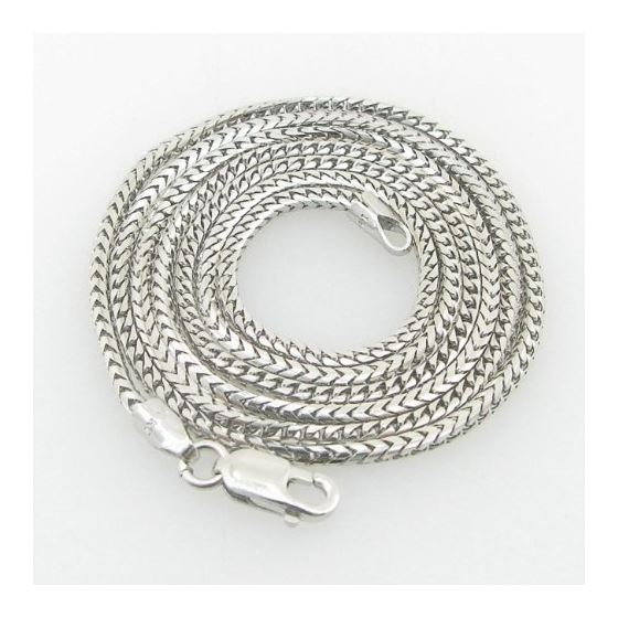 Mens White-Gold Franco Link Chain Length - 20 inch