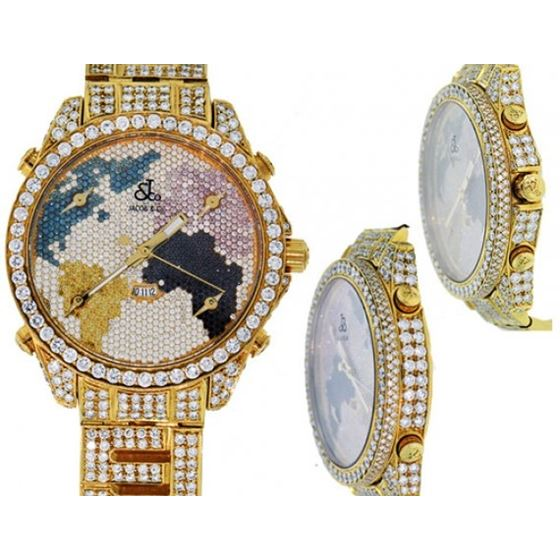 Jacob Watches Jacob all Iced Out World Map Diamond